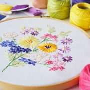 Vintage floral bouquet embroidery pattern pdf | Hello! Hooray!