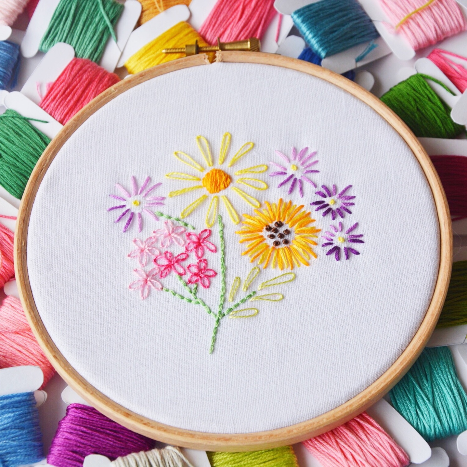 Vintage floral embroidery workshop | Hello! Hooray!