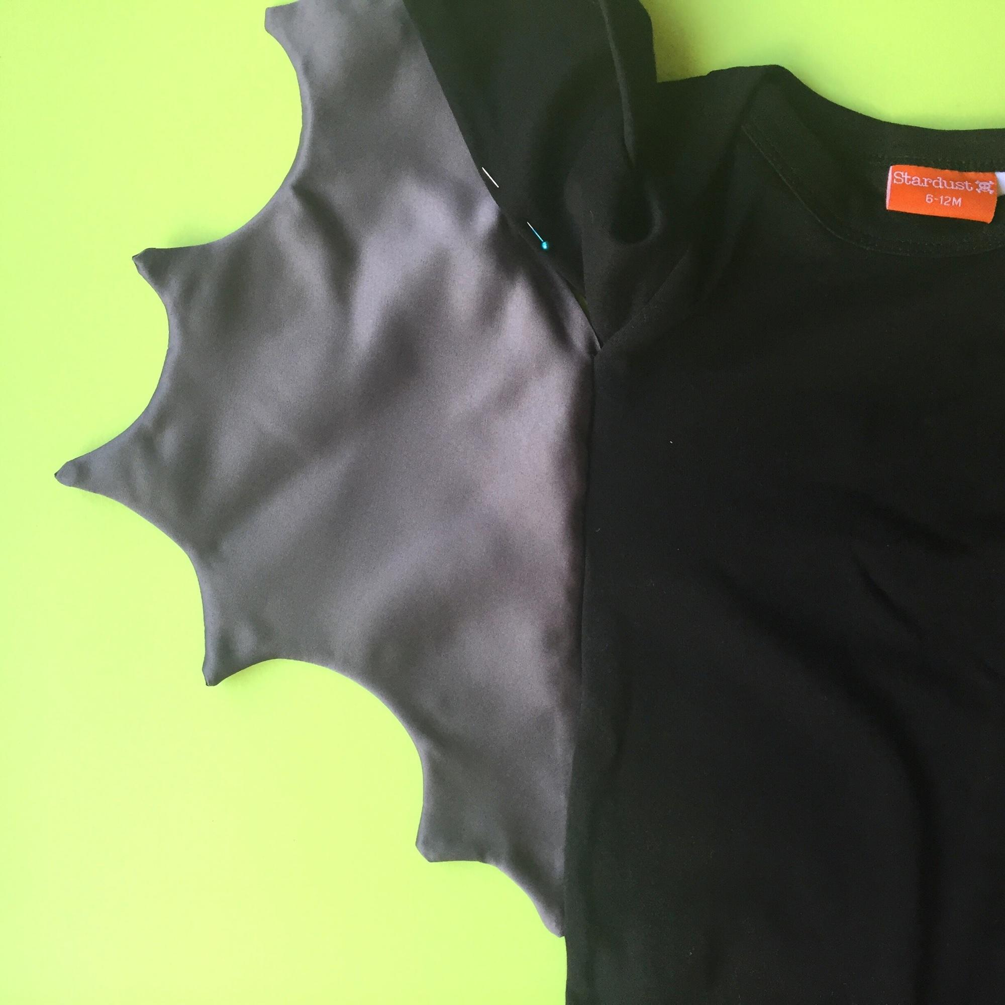 Baby bat Halloween costume DIY step 5 | Hello! Hooray!