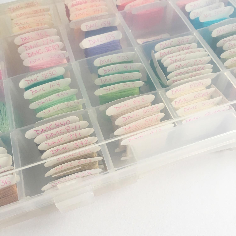 How I organised my embroidery threads | Hello! Hooray!