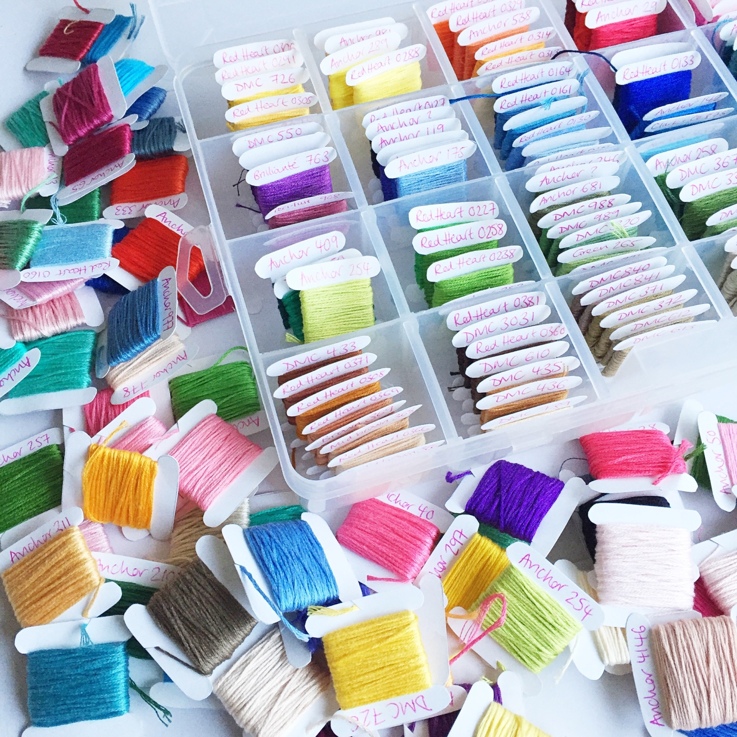 How I organised my embroidery threads | Hello! Hooray!