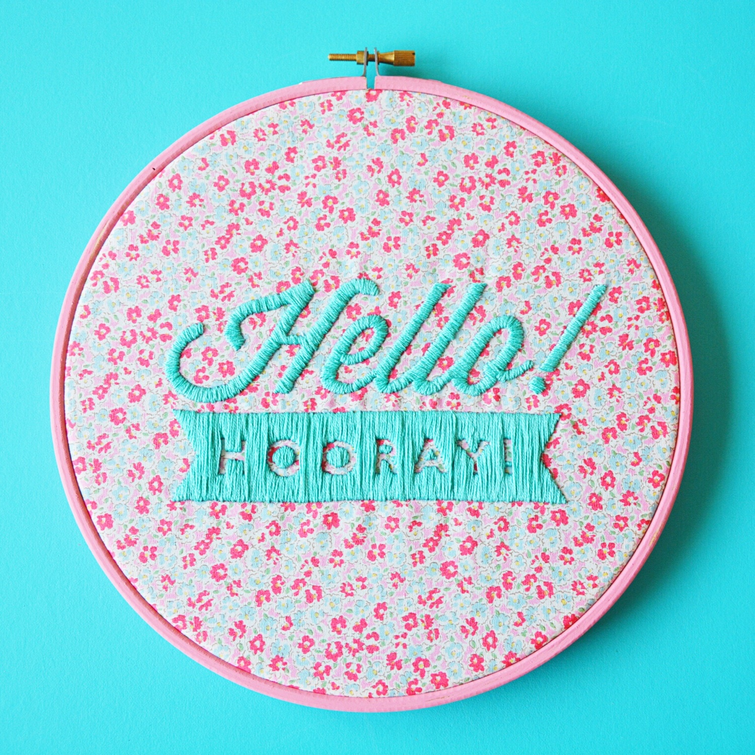 Hello Hooray embroidered logo