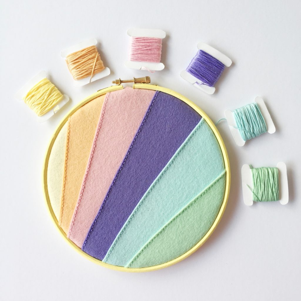 Crafty Colour Palette #2 pin hoop and thread | Hello! Hooray!