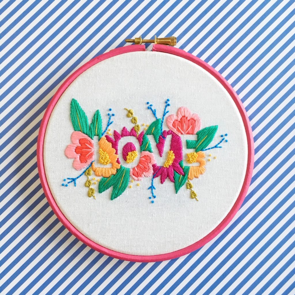 Brynn and Co LOVE embroidery hoop | Hello! Hooray!