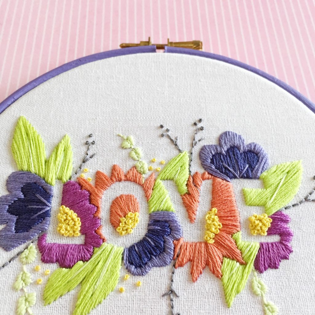 Brynn and Co LOVE embroidery hoop new DMC colours | Hello! Hooray!