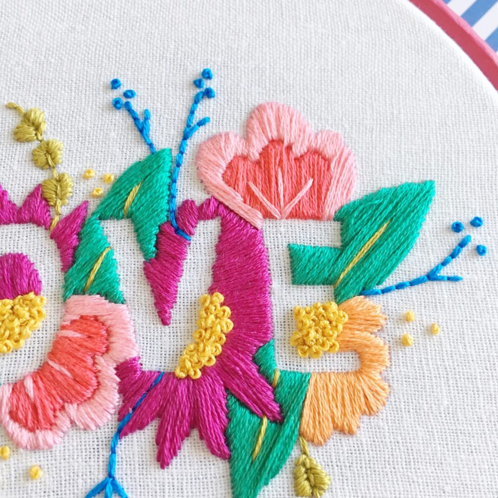 Details from Brynn and Co LOVE embroidery hoop | Hello! Hooray!