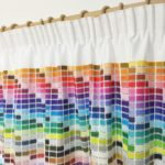 Pantone colour chart curtains