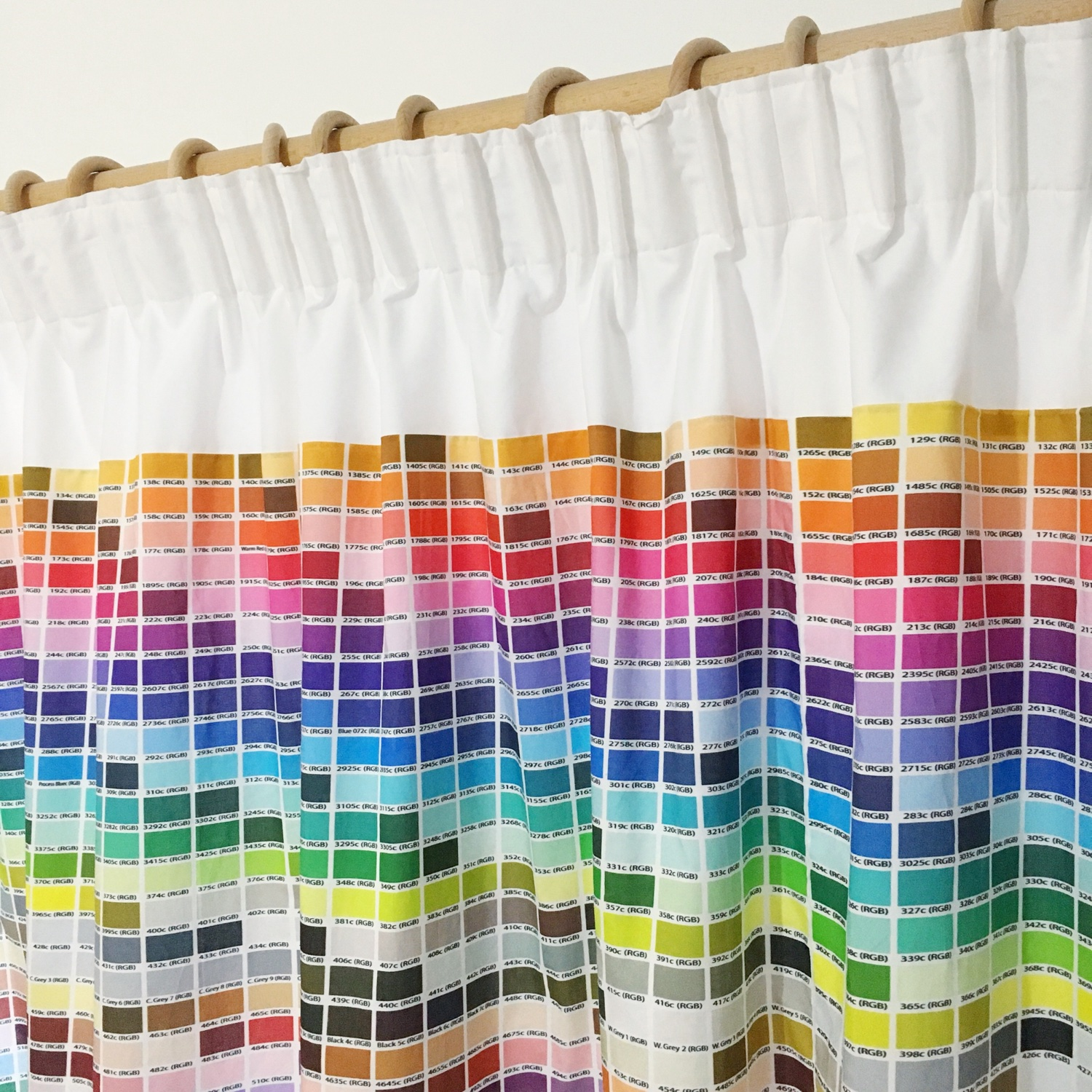 Pantone colour chart curtains | Hello! Hooray!