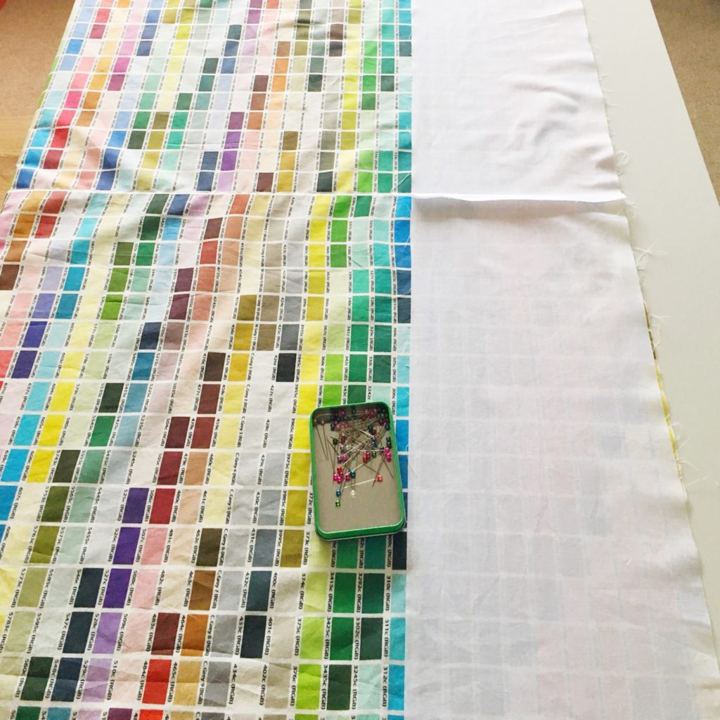 Sewing my Pantone colour chart curtains 3 | Hello! Hooray!