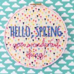 New embroidery patterns from hellohoorayshop
