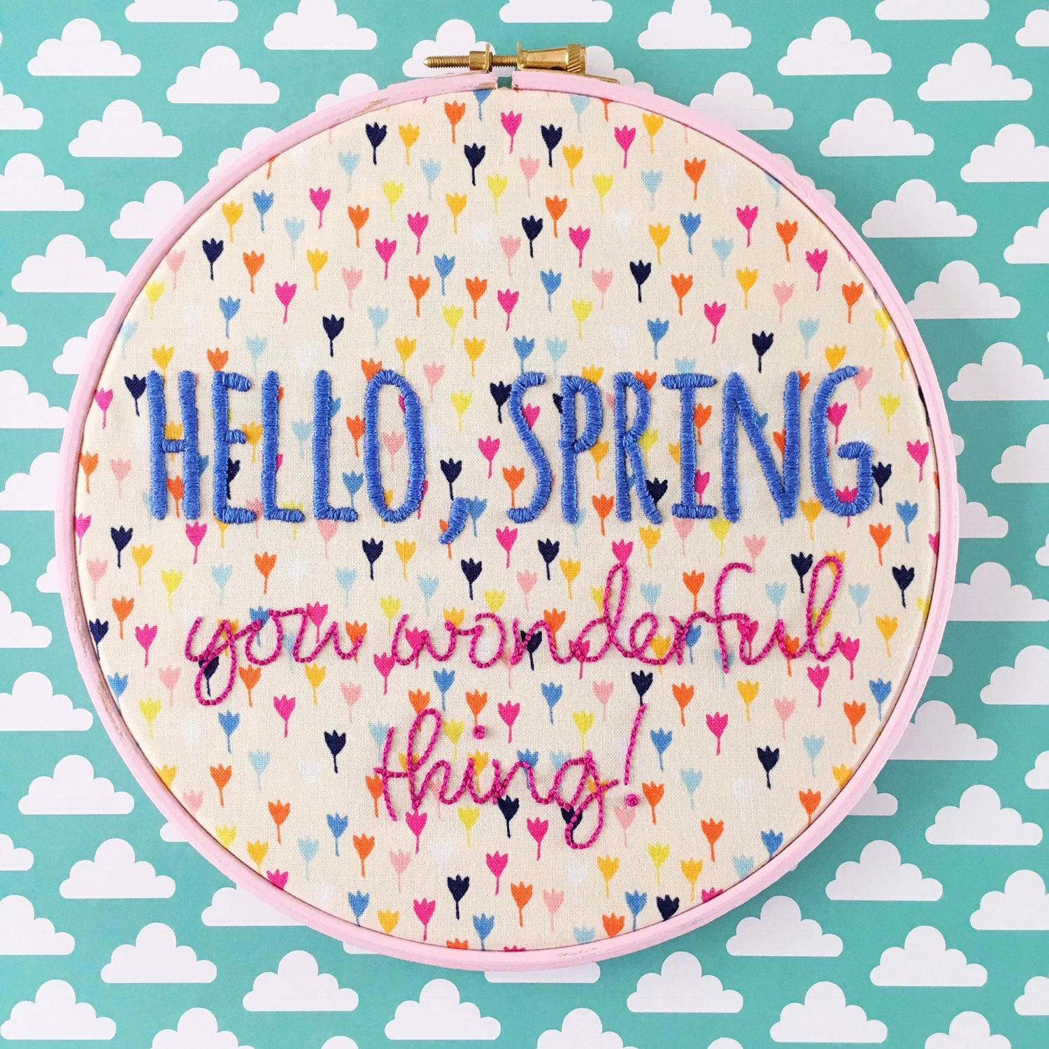 Hello Spring new embroidery patterns from hellohoorayshop | Hello! Hooray!