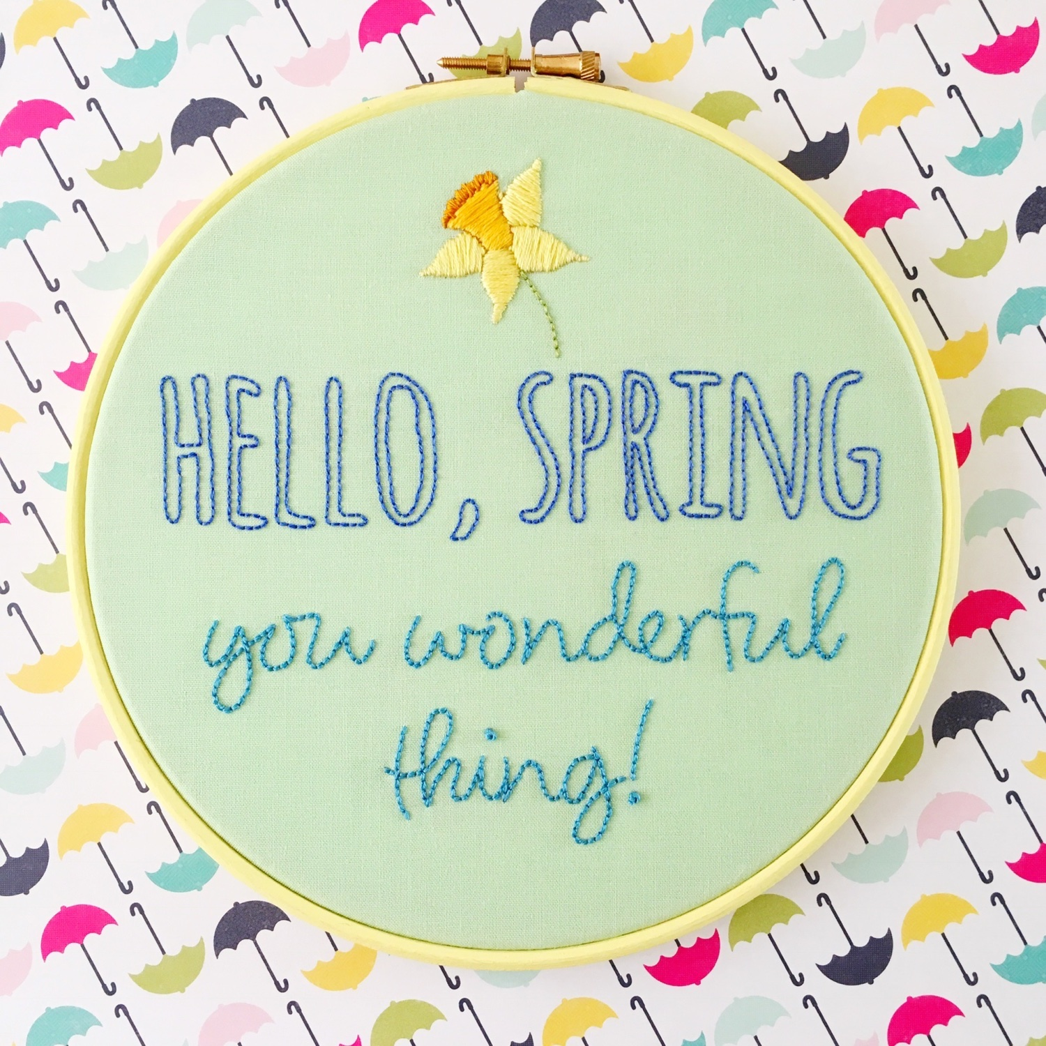 Hello spring with daff | Hello! Hooray!