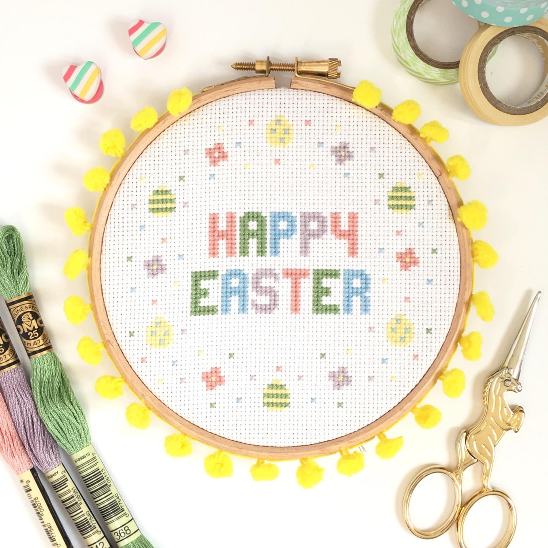 Happy Easter Hoop from Hannah Handmakes | Hello! Hooray!