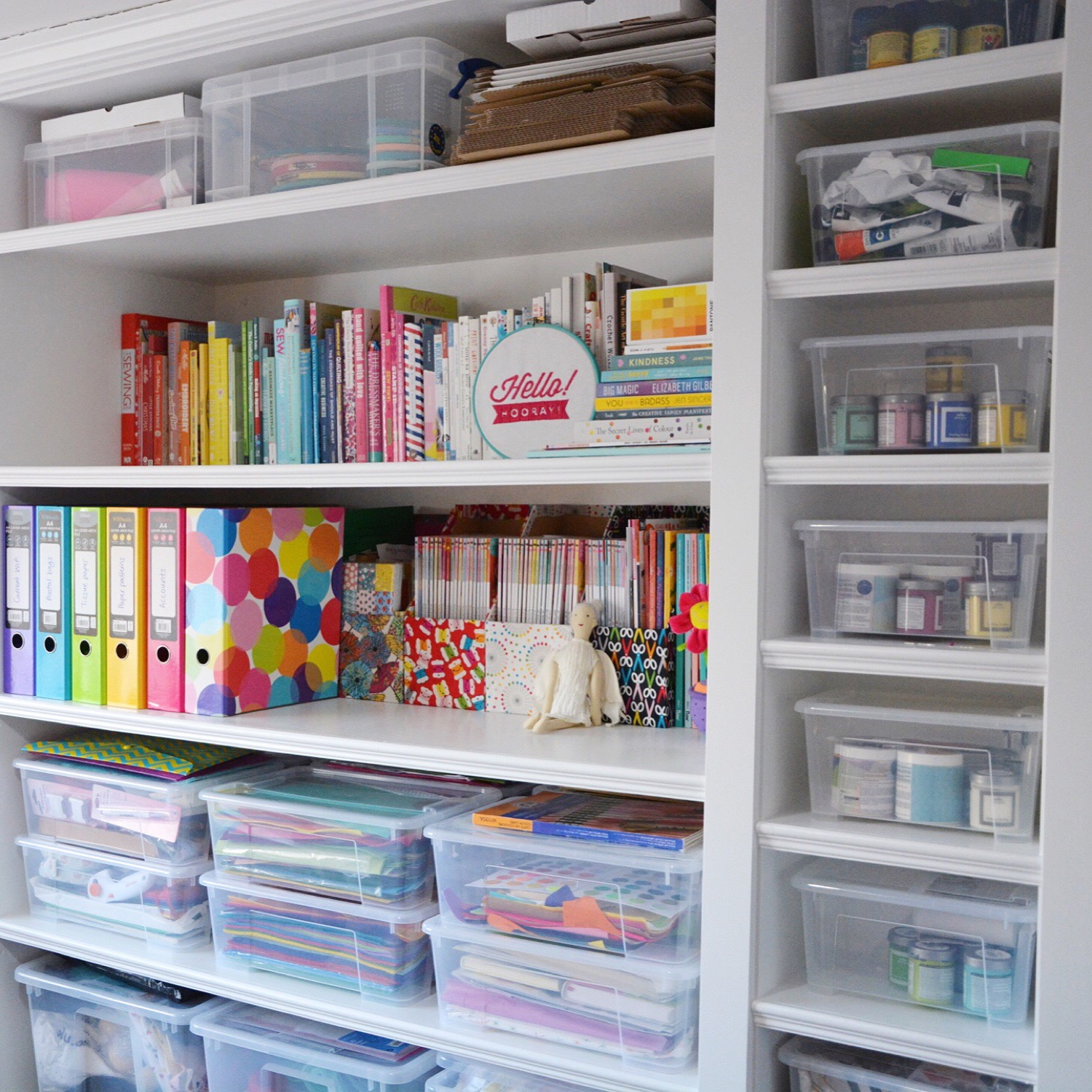 Custom craft room shelving | Hello! Hooray!