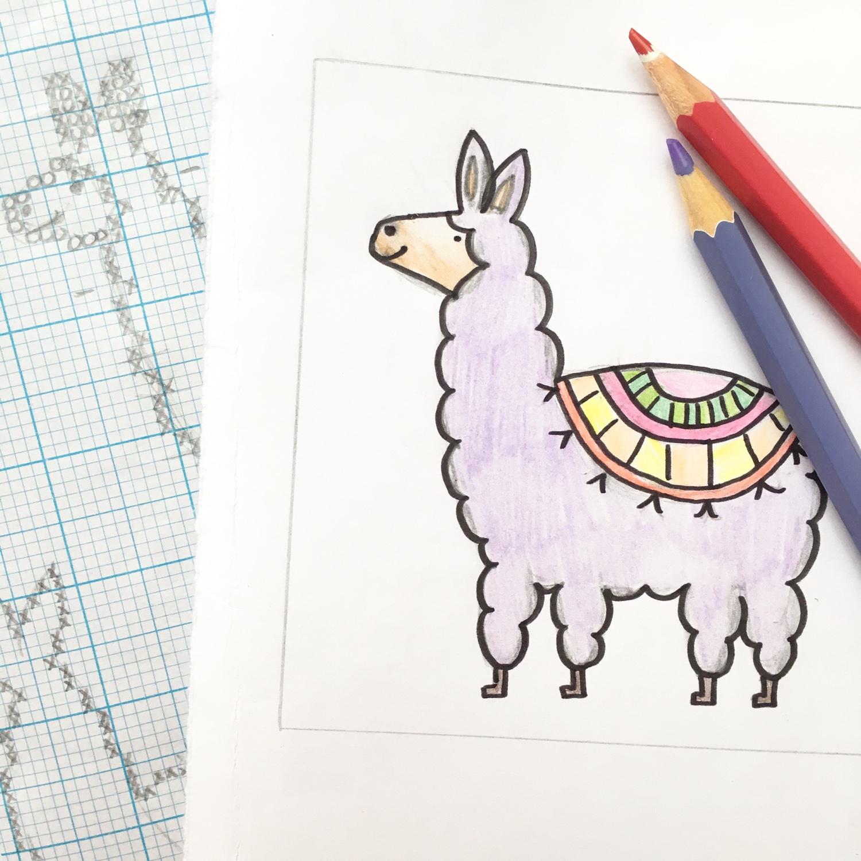 Llama design by Hannah Hand Makes | Hello! Hooray!
