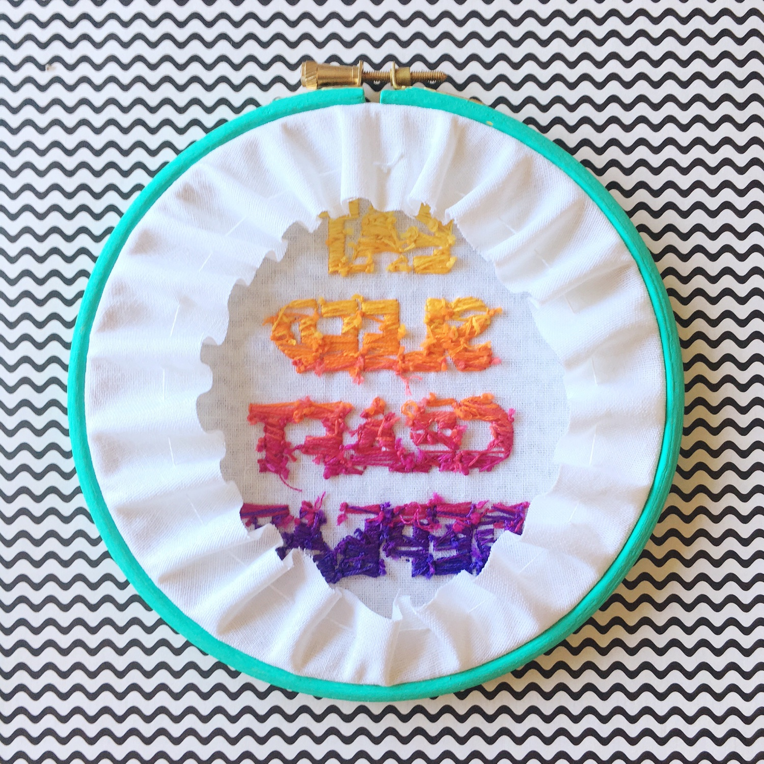 Eat Sleep Craft Repeat hoop guts | Hello! Hooray!