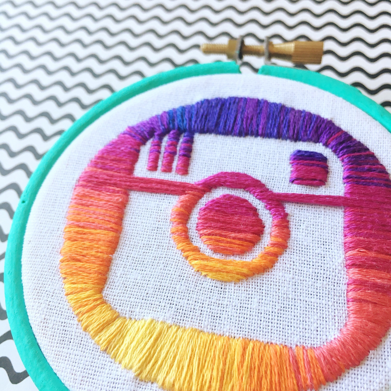 Hand embroidered Instagram logo | Hello! Hooray!