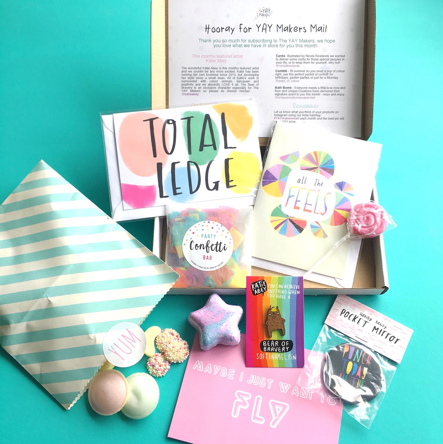 Items in the YAYmakers box | Hello! Hooray!