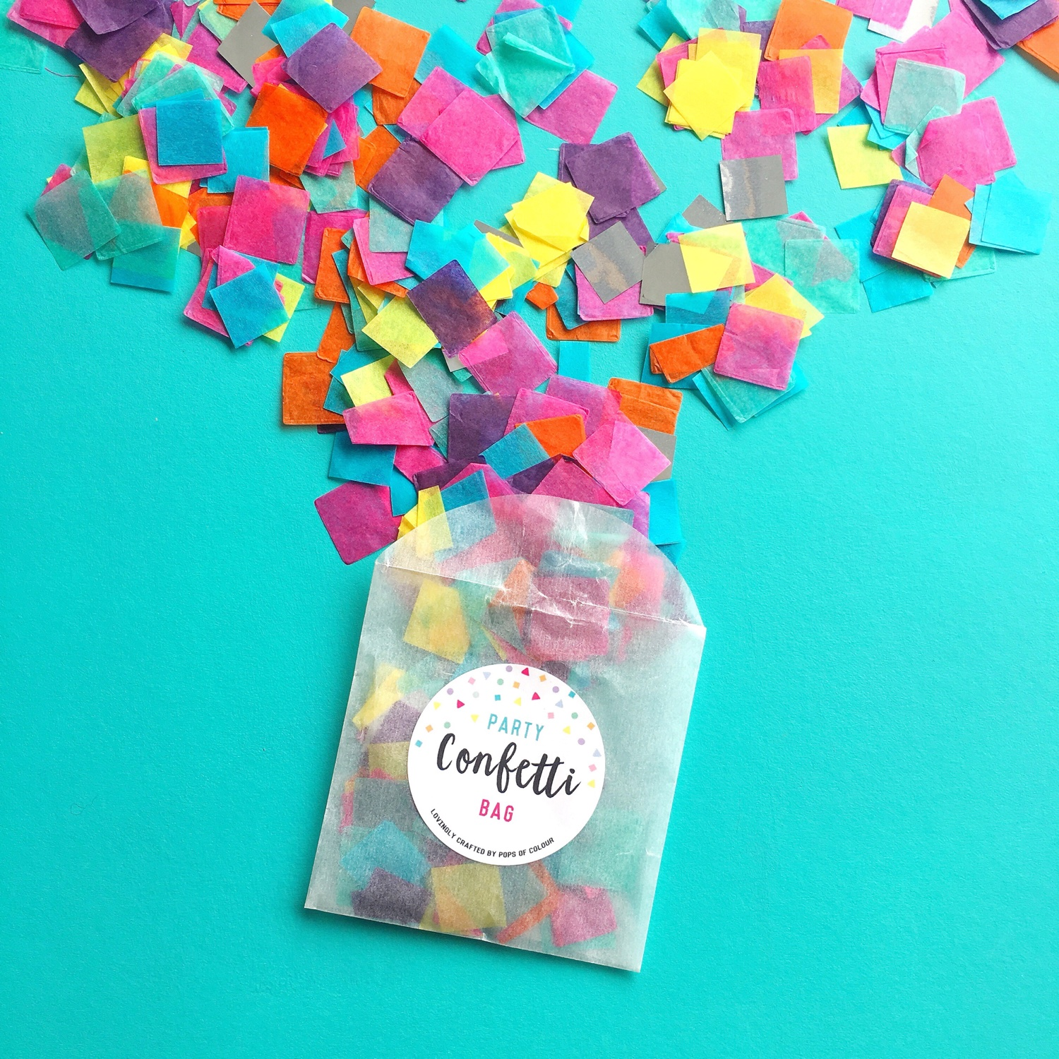 Pops of Colour confetti | Hello! Hooray!