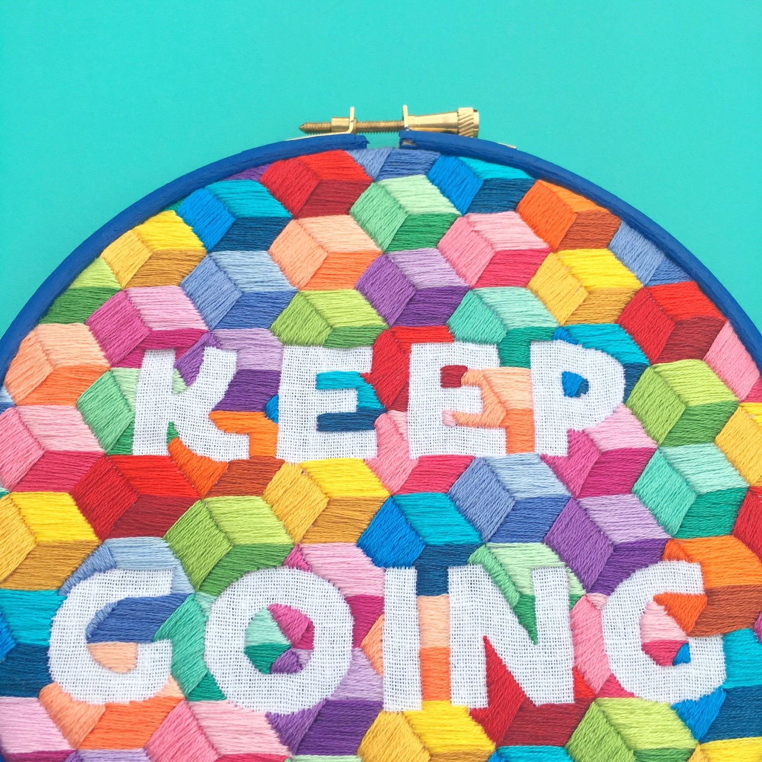 Keep Going geo pattern | Hello! Hooray!