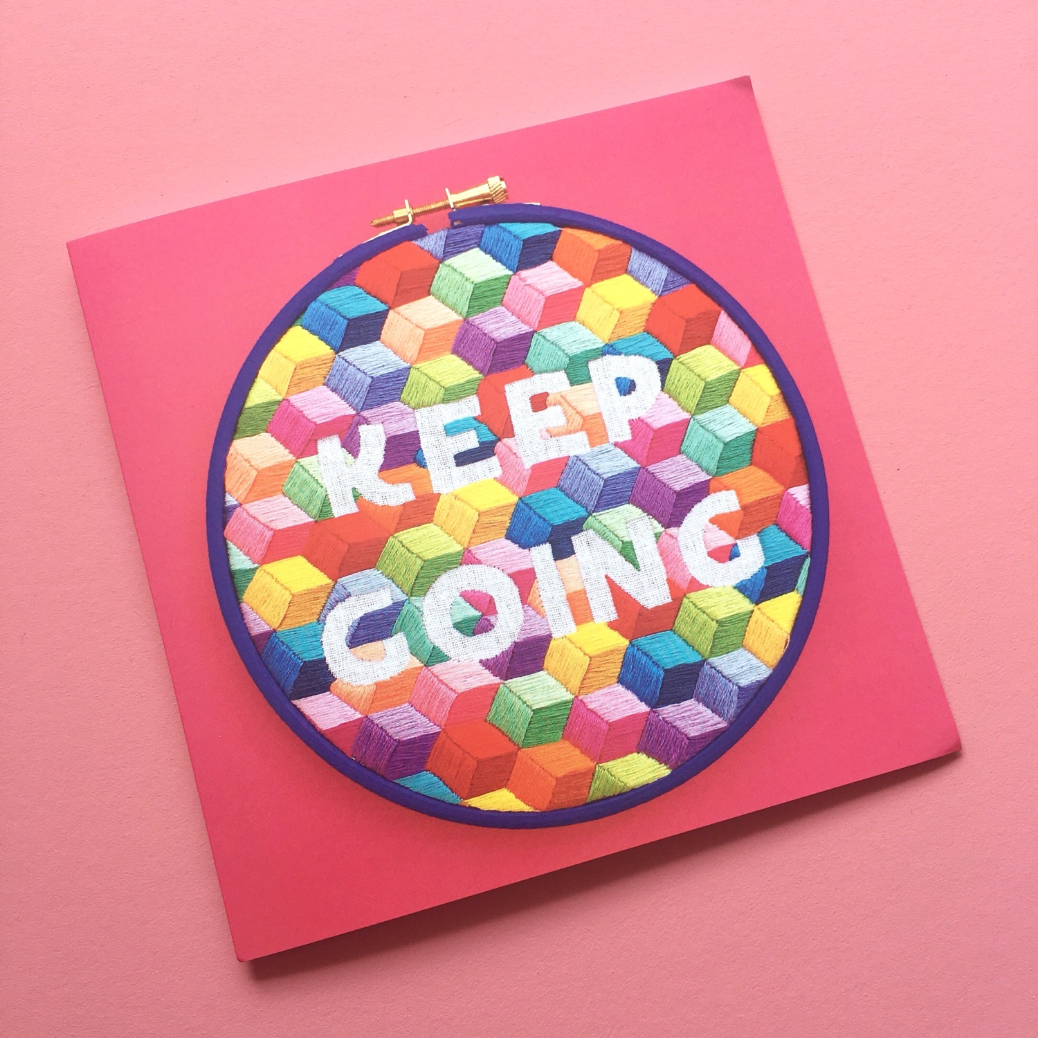 Keep Going pink card | Hello! Hooray!
