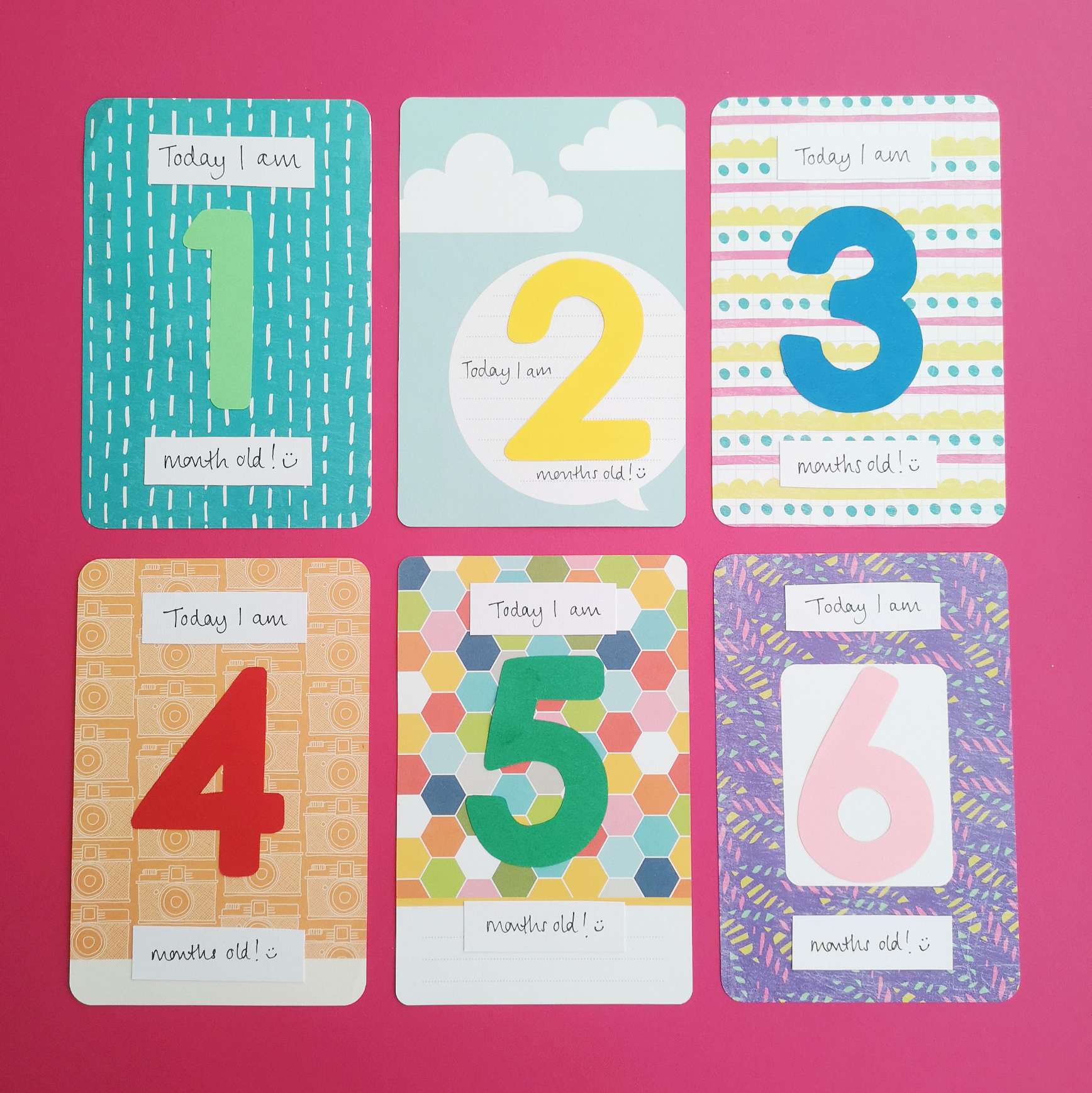 Baby milestone cards 1 to 6 | Hello! Hooray!