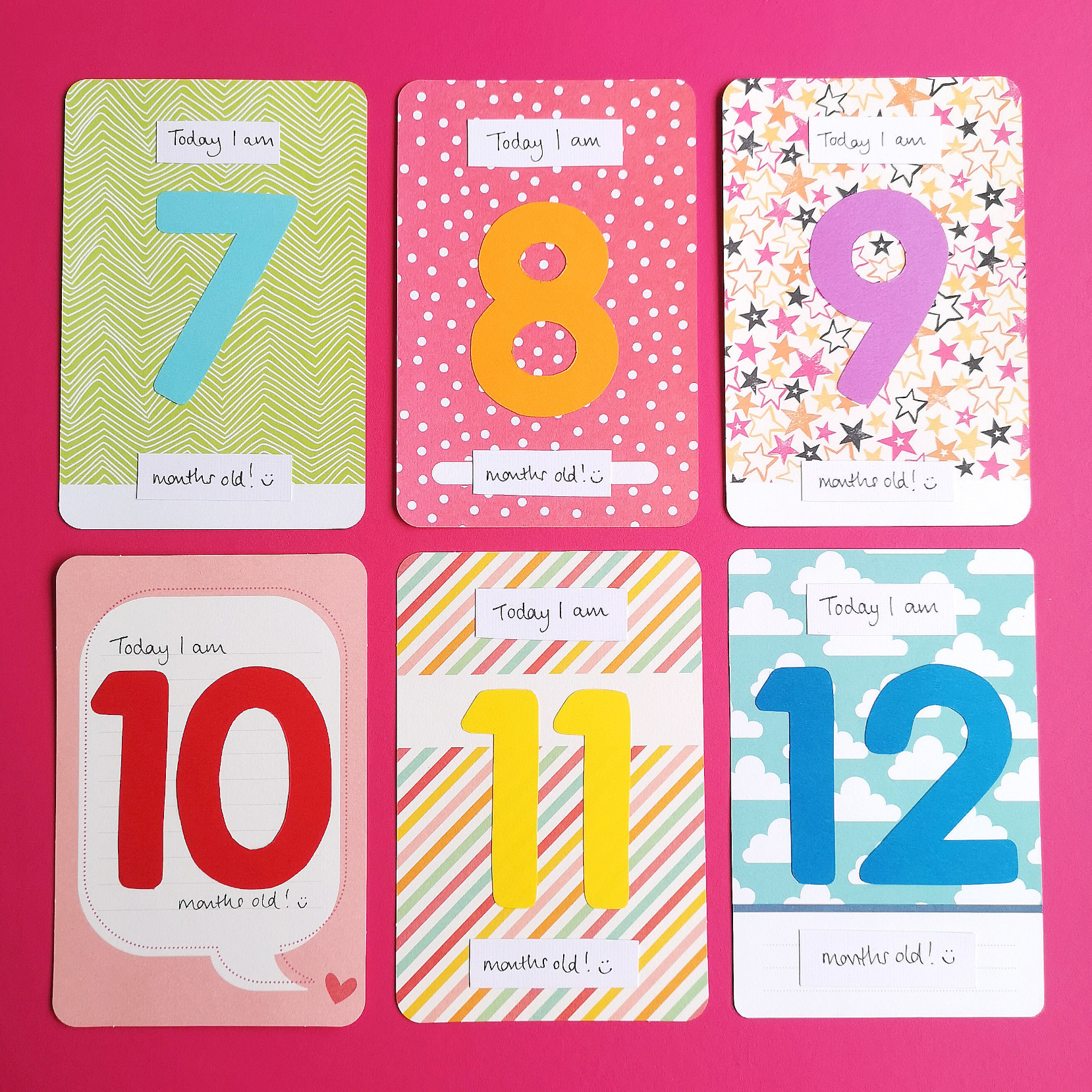 Baby milestone cards 6 to 12 | Hello! Hooray!