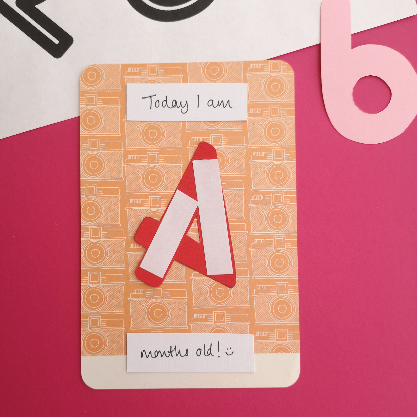 Project Life baby milestone cards Step 1 | Hello! Hooray!