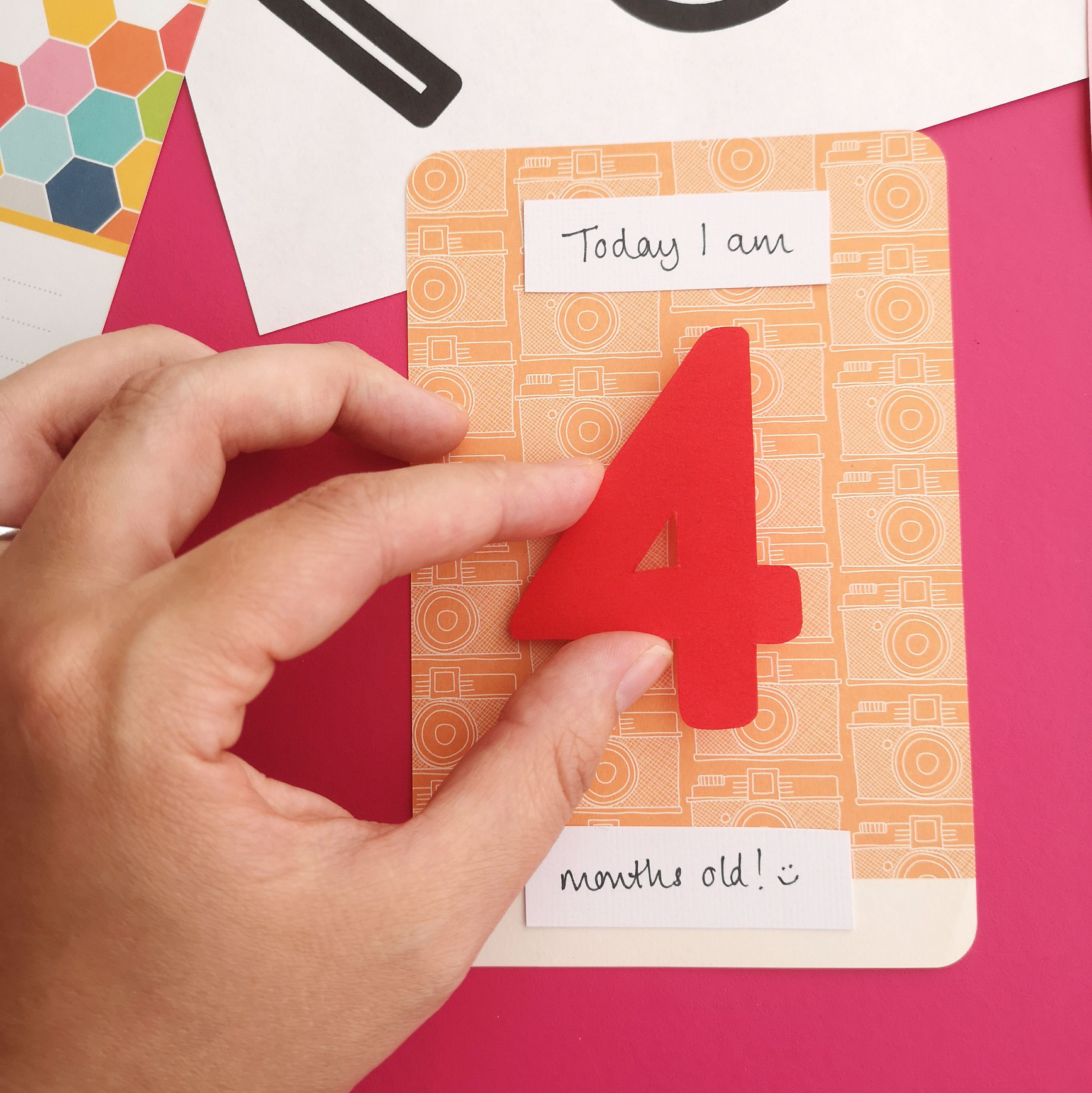 Project Life baby milestone cards Step 2 | Hello! Hooray!