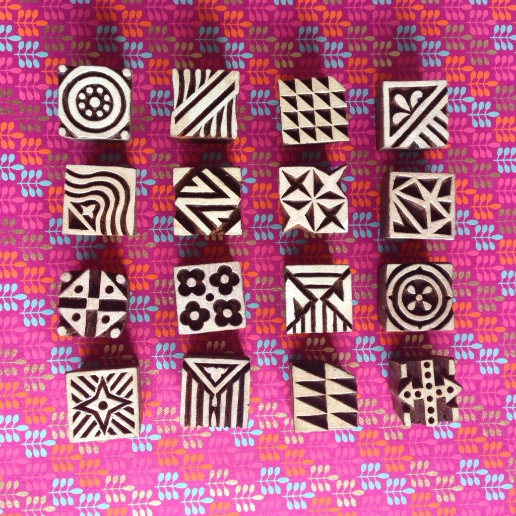 Colouricious stamps small square blocks | Hello! Hooray!