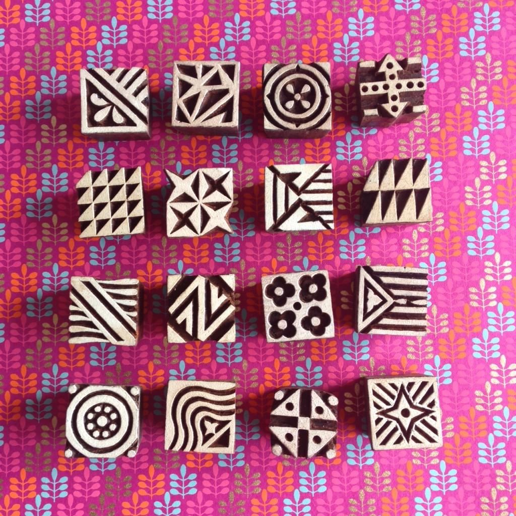 Colouricious stamps small square blocks | Hello! Hooray!