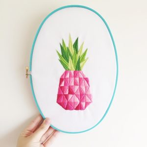 Pink Pineapple embroidery | Hello! Hooray!