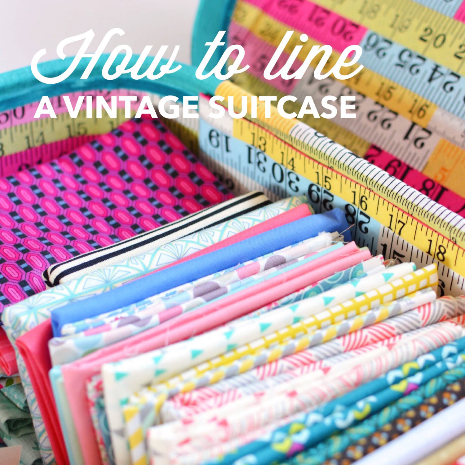 Tutorial: How to line a vintage suitcase | Hello! Hooray!