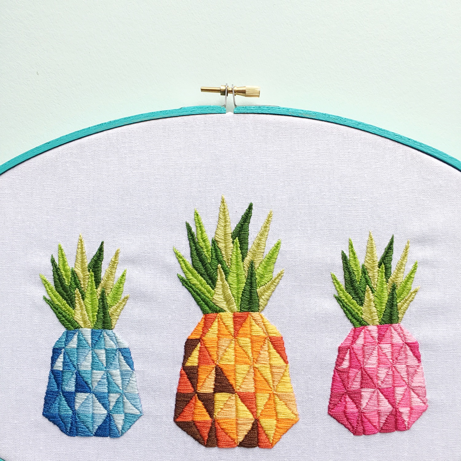 Pineapple embroidery | Hello! Hooray!
