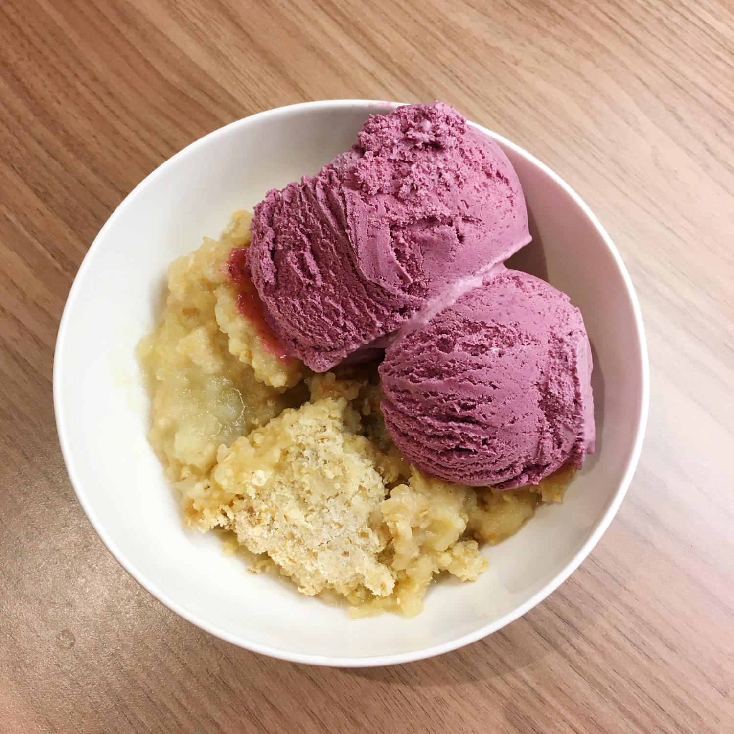 Ultimate blackberry ice cream and apple crumble | Hello! Hooray!