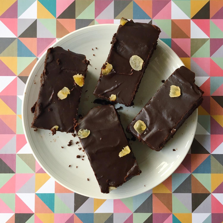 Chocolate gingerbread brownies | Hello! Hooray!