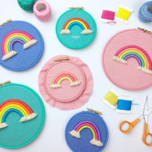Custom rope rainbow hoop | Hello! Hooray!