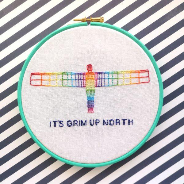 Rainbow Angel embroidered hoop | Hello! Hooray!