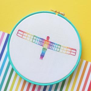 Rainbow Angel hand embroidery workshop   Hello! Hooray!