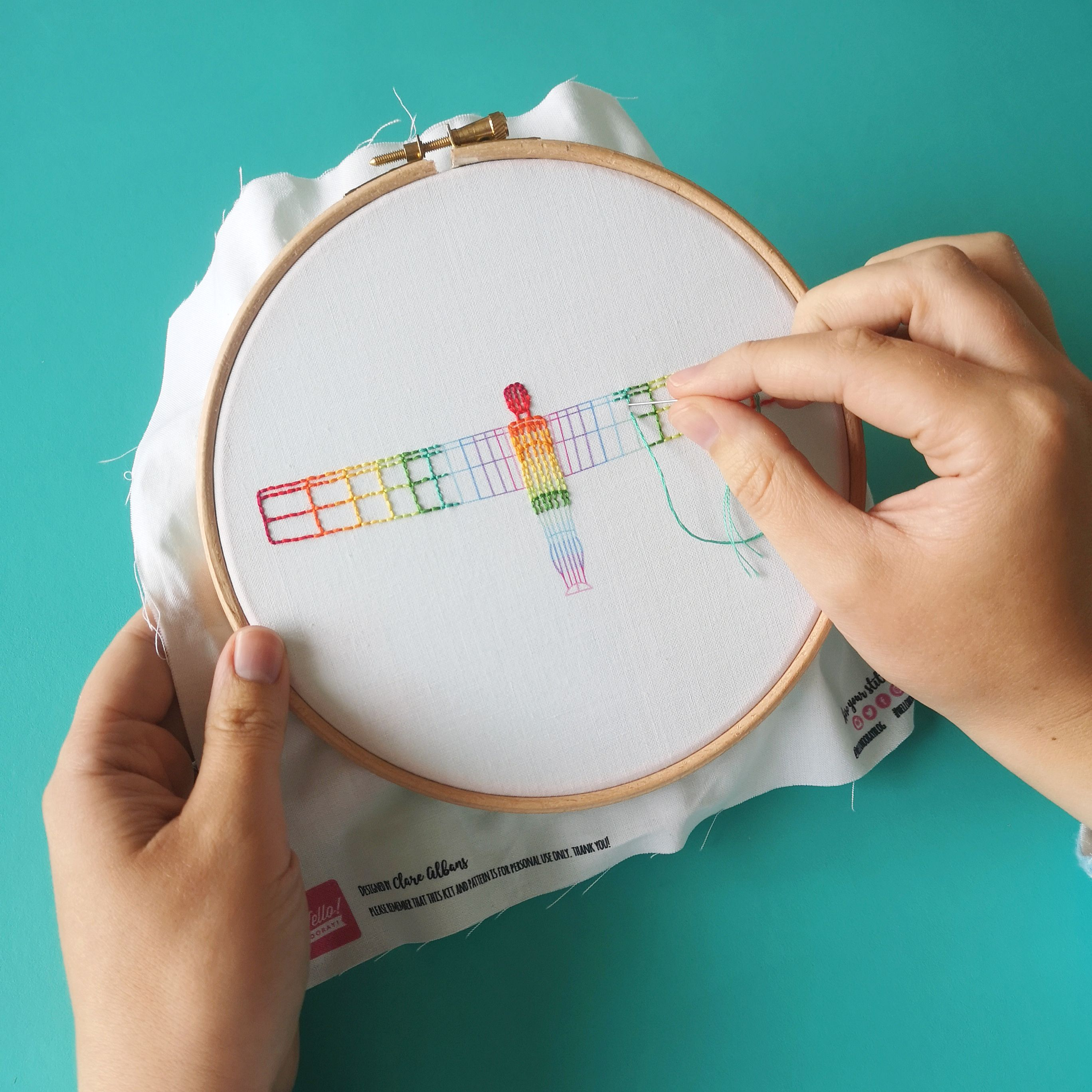 Love of the North rainbow Angel embroidery workshop | Hello! Hooray!