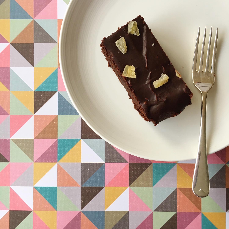 Chocolate gingerbread brownies with fudgy icing   Hello! Hooray!