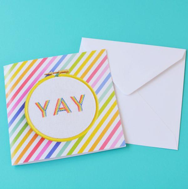 YAY card | Hello! Hooray!