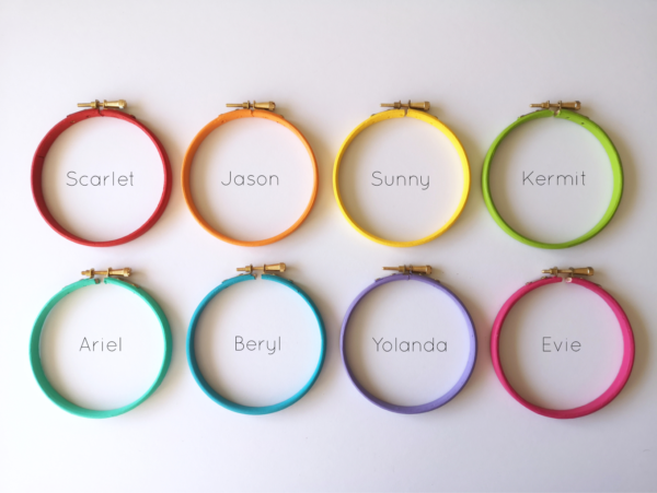 Bright custom hoop colours | Hello! Hooray!