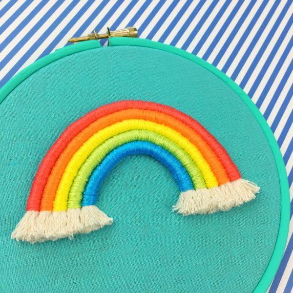 Bright rope rainbow teal | Hello! Hooray!
