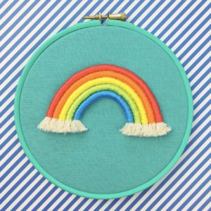 Bright rope rainbow teal hoop | Hello! Hooray!