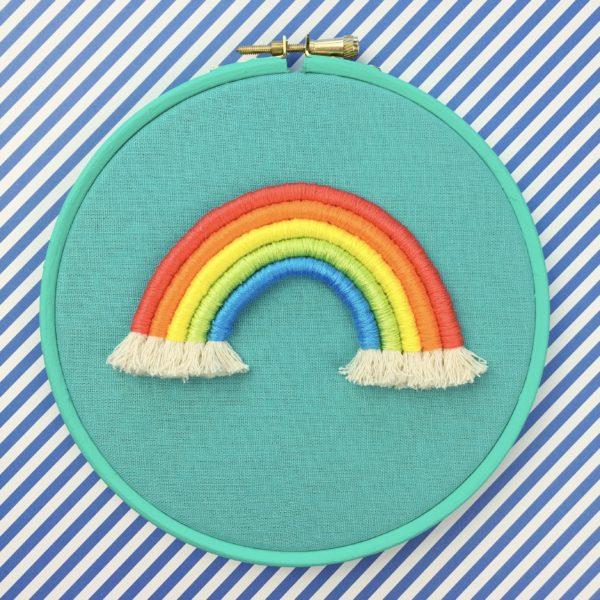 Bright rope rainbow teal hoop | Hello! Hooray!