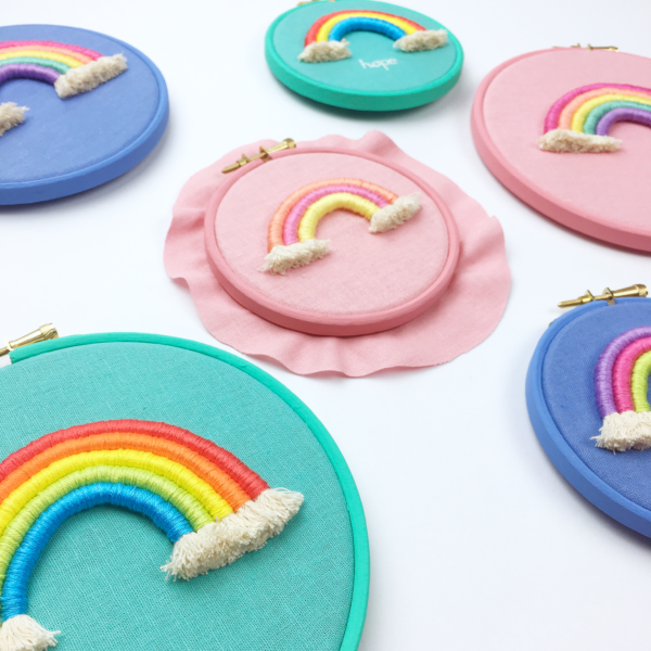 Custom rope rainbow hoops | Hello! Hooray!