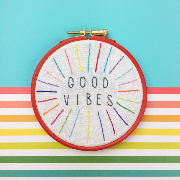 Good vibes unique colours hoop | Hello! Hooray!