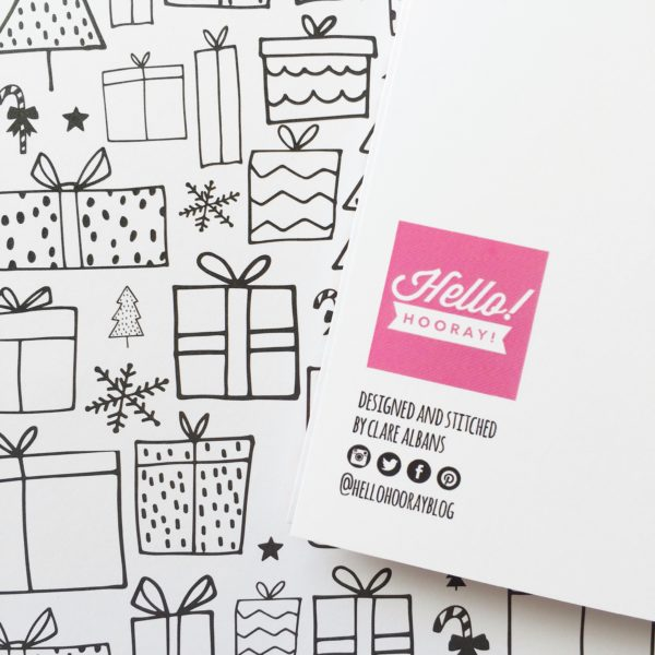 Have Yourself a Crafty Little Christmas card reverse | Hello! Hooray!