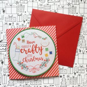 Have Yourself a Crafty Little Christmas card | Hello! Hooray!